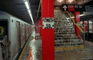 subway flooding 300x194 Escaping From New York City.  Is It Really a Viable Concept in a SHTF?