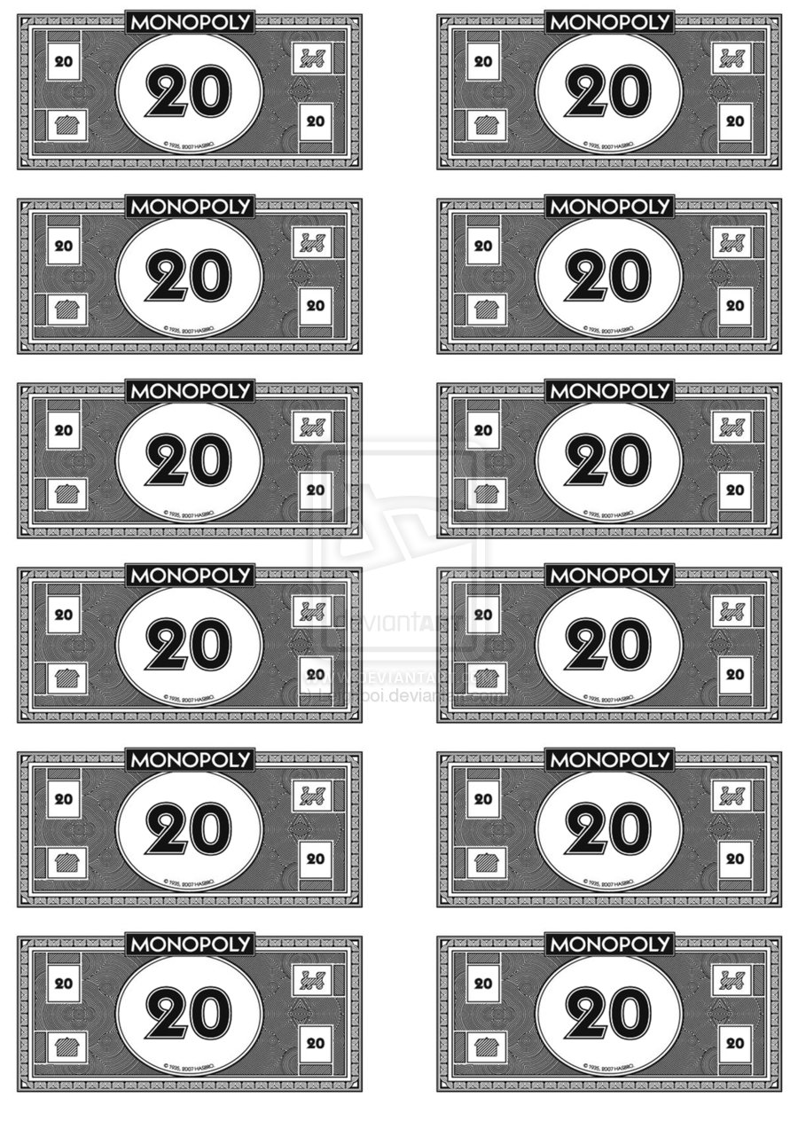 It's just an image of Geeky Monopoly Money Printable